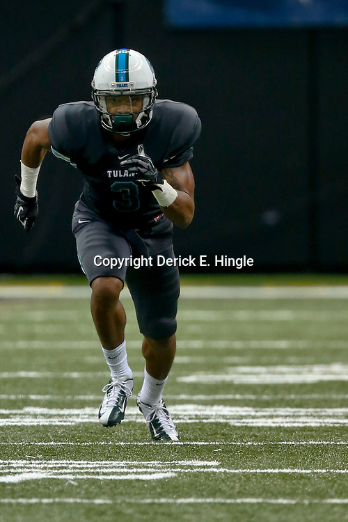 Sep 7, 2013; New Orleans, LA, USA; Tulane Green Wave  wide receiver Ryan Grant (3) during a game against the South Alabama Jaguars at the Mercedes-Benz Superdome. Mandatory Credit: Derick E. Hingle-USA TODAY Sports