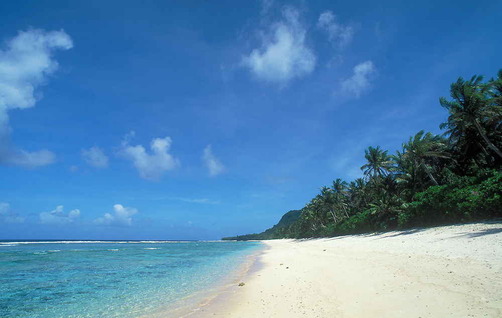 Guam, Micronesia: Urunao Beach on the north end of the island.  .#3311-1069