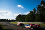 June 14-19, 2016: 24 hours of Le Mans. 68 FORD CHIP GANASSI, FORD GT, Joey HAND, Dirk MÜLLER, Sébastien BOURDAIS, LM GTE Pro, 82 RISI COMPETIZIONE, FERRARI 488 GTE, Giancarlo FISICHELLA, Toni VILANDER, Matteo MALUCELLI, LM GTE Pro