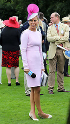 Horse racing presenter Emma Spencer  on the second day of Glorious Goodwood<br /> London,  Wednesday, 31st July 2013<br /> Picture by Stephen Lock / i-Images