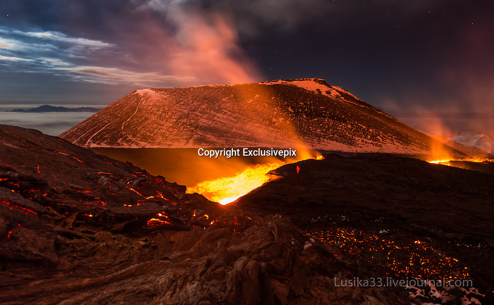 The Magic Night<br /> <br /> What a truly magic night! The sun going behind the horizon and the erupting Tolbachik volcano (Kamchatka) whose lava paths illuminated the night.<br /> ©Andrey Lu/Exclusivepix