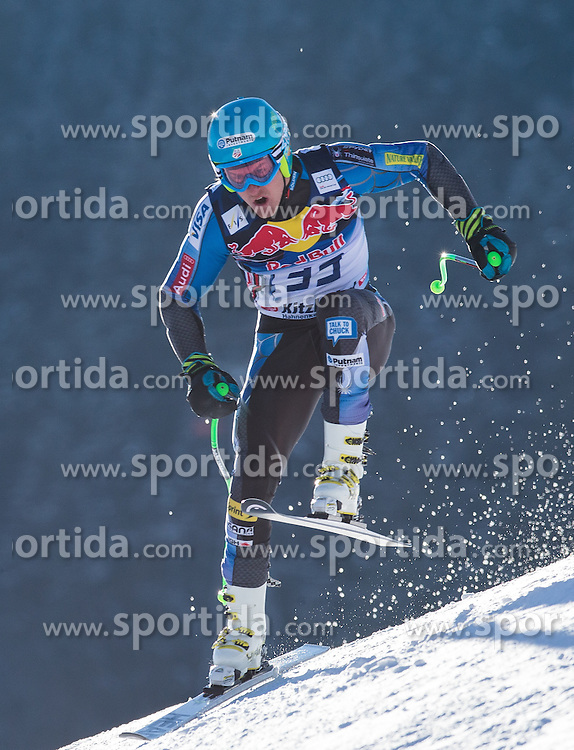 23.01.2013, Streif, Kitzbuehel, AUT, FIS Weltcup Ski Alpin, Abfahrt, Herren, 2. Training, im Bild Ted Ligety (USA) // Ted Ligety of the USA in action during 2nd practice of mens Downhill of the FIS Ski Alpine World Cup at the Streif course, Kitzbuehel, Austria on 2013/01/23. EXPA Pictures © 2013, PhotoCredit: EXPA/ Johann Groder