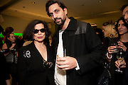 BIANCA JAGGER; BEN GORHAM, Prada presents a book documenting the company's diverse projects in fashion, architecture, film and art. Prada Shop. 16/18 Old Bond St. London W1. *** Local Caption *** -DO NOT ARCHIVE-© Copyright Photograph by Dafydd Jones. 248 Clapham Rd. London SW9 0PZ. Tel 0207 820 0771. www.dafjones.com.<br /> BIANCA JAGGER; BEN GORHAM, Prada presents a book documenting the company's diverse projects in fashion, architecture, film and art. Prada Shop. 16/18 Old Bond St. London W1.