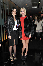 Left to right, EMILY SHEFFIELD and the HON.SOPHIA HESKETH at a party to celebrate the 15th birthday of Vogue.com held at W Hotel, Leicester Square, London W1 on 17th February 2011.