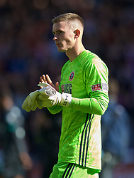 SHEFFIELD, ENGLAND - Thursday, September 26, 2019: Sheffield United's goalkeeper Dean Henderson looks dejected at the final whistle as his mistake handed a 1-0 victory to Liverpool during the FA Premier League match between Sheffield United FC and Liverpool FC at Bramall Lane. (Pic by David Rawcliffe/Propaganda)