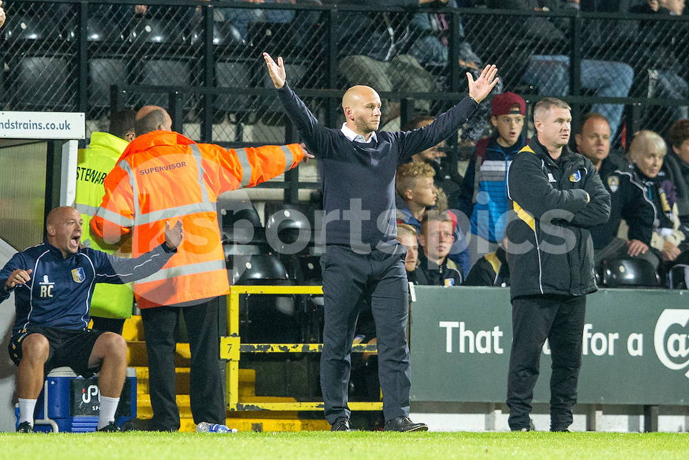 Mansfield Town's Adam Murray during the Sky Bet League 2 match between Notts County and Mansfield Town at Meadow Lane, Nottingham, England on 14 August 2015. Photo by James Williamson.