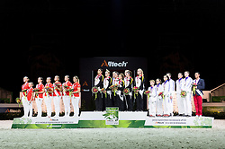 Podium - Squad Final Vaulting - Alltech FEI World Equestrian Games™ 2014 - Normandy, France.<br /> © Hippo Foto Team - Jon Stroud<br /> 05/09/2014