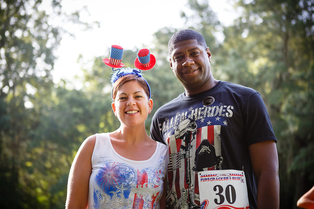 Images from the 2015 Firecracker 4 Miler race at Laurel Hill County Park in Mt. Pleasant near Charleston, South Carolina