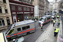 © Licensed to London News Pictures. 22/02/2012. London, UK.  A general view of an Olympic security test event at Aldwych tube station in central London today (22/02/2012). The two-day exercise is being run in a disused tube station to test security in run up to the London Olympics this summer. Photo credit : Ben Cawthra/LNP
