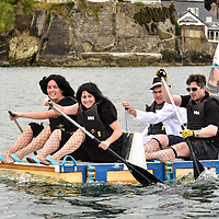 REPRO FREE<br /> Pictured at the RNLI Kinsale Raft Race on the Saturday of the Kinsale Regatta are the Charlies Angels team from Eli Lilly.<br /> Picture. John Allen
