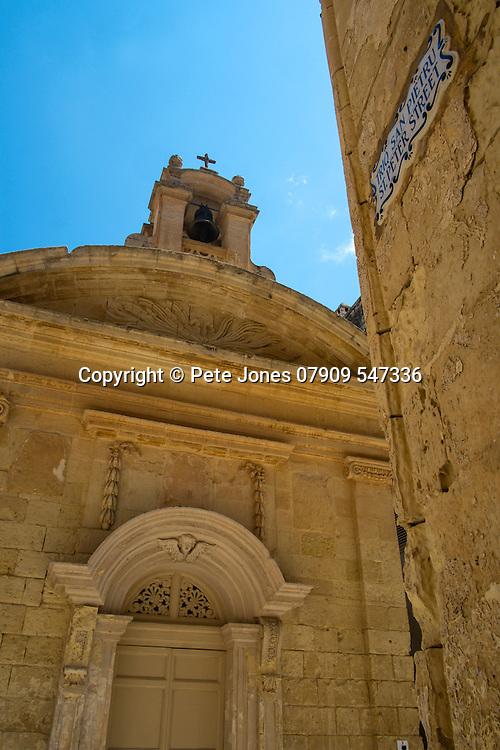 Triq San Pietru, St Peter Street,<br />Mdina, Malta, Europe.<br />Summer 2016.