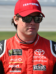 October 14, 2018 - Talladega, AL, U.S. - TALLADEGA, AL - OCTOBER 14: Erik Jones, Joe Gibbs Racing, Toyota Camry Craftsman (20) on pit road before the 1000Bulbs.com 500 on October 14, 2018, at Talladega Superspeedway in Tallageda, AL.(Photo by Jeffrey Vest/Icon Sportswire) (Credit Image: © Jeffrey Vest/Icon SMI via ZUMA Press)