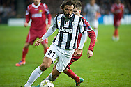 23.10.12. Copenhagen, Denmark. UEFA Champions League Group E, FC Nordsjaelland  1 vs Juventus 1 at the Parken Stadium. Pirlo of Juventus during the UEFA Champions League. Photo: © Ricardo Ramirez.
