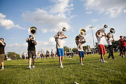 The Oregon Marching Band practices in Deerfield, Wisconsin on June 17, 2008.