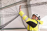Enviroguard Pest Control were called upon by JCB to protect their building from pigeons using nets. Ioan Said Photography
