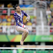 Gymnastics - Olympics: Day 2  Rebeca Andrade #312 of Brazil in action on the Women's Uneven Bars during the Artistic Gymnastics Women's Qualification round at the Rio Olympic Arena on August 7, 2016 in Rio de Janeiro, Brazil. (Photo by Tim Clayton/Corbis via Getty Images)