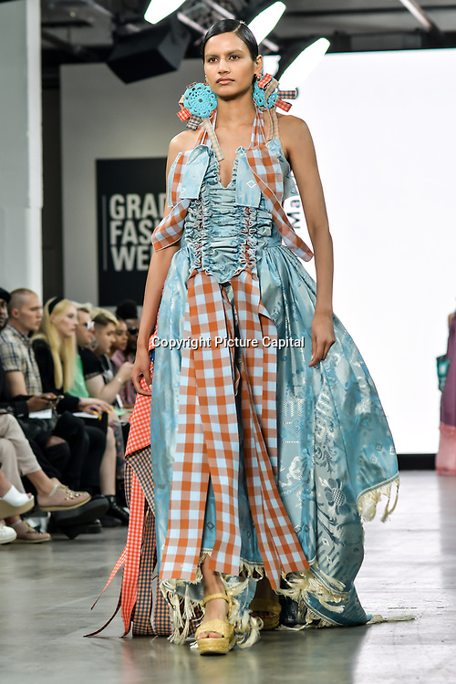 UCA Epsom showcases at Graduate Fashion Week 2019 - Day Three, on 4 June 2019, Old Truman Brewery, London, UK.