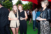 CHARLOTTE PORTER; JULIA PEYTON-JONES; MIRANDA PORTER, Serpentine Pavilion private view. Kensington Gardens. London. 12 September 2010. -DO NOT ARCHIVE-© Copyright Photograph by Dafydd Jones. 248 Clapham Rd. London SW9 0PZ. Tel 0207 820 0771. www.dafjones.com.