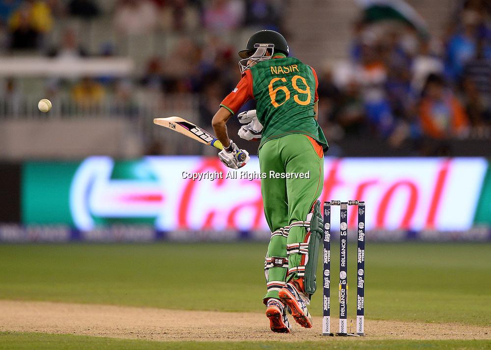Nasir Hossian (Bang)<br /> India vs Bangladesh / Qtr Final 2<br /> 2015 ICC Cricket World Cup<br /> MCG / Melbourne Cricket Ground <br /> Melbourne Victoria Australia<br /> Thursday 19 March 2015<br /> &copy; Sport the library / Jeff Crow