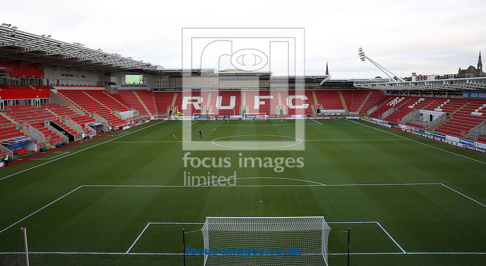 A general stadium view before the third round of the FA Cup at the New York Stadium, Rotherham<br /> Picture by James Wilson/Focus Images Ltd 07709 548263<br /> 07/01/2017
