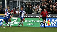 Fotball<br /> UEFA Cup<br /> Foto: Polfoto/Digitalsport<br /> NORWAY ONLY<br /> <br /> OBs Mads Timm har scoret og tiljubles af Jan Tore Ophaug ( 2 ) , da OB torsdag eftermiddag tog imod Hertha Berlin i returkampen i første runde af UEFA-Cuppen, det første opgør i Berlin endte 2-2. OB vandt kampen 1-0 og er dermed videre til UEFA Cuppens gruppespil