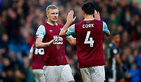 Football - 2019 / 2020 Premier League - Burnley vs. Leicester City<br /> <br /> Jack Cork and Ben Mee of Burnley celebrate  at Turf Moor.<br /> <br /> COLORSPORT