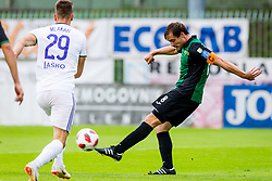 Damjan Trifkovic of NK Rudar Velenje during football match between NK Rudar Velenje and Maribor in 1st Round of Prva liga Telekom Slovenije 2018/19, on July 22, 2018 in Mestni stadion ob Jezeru, Velenje , Slovenia. Photo by Ziga Zupan / Sportida