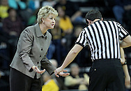 January 28, 2012: Iowa Hawkeyes head coach Lisa Bluder pleads her case with an official during the NCAA women's basketball game between the Purdue Boilermakers and the Iowa Hawkeyes at Carver-Hawkeye Arena in Iowa City, Iowa on Saturday, January 28, 2012.