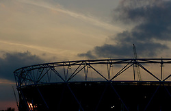 The Sun sets through the olympic stadium  - Photo mandatory by-line: Joe Meredith/JMP - Mobile: 07966 386802 - 11/09/14 - The Invictus Opening Ceremony - London - Queen Elizabeth Olympic Park