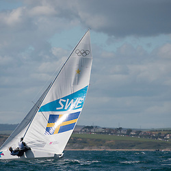 2012 Olympic Games London / Weymouth<br /> <br /> Star practice race<br /> StarSWELoof Fredrik, Salminen Max