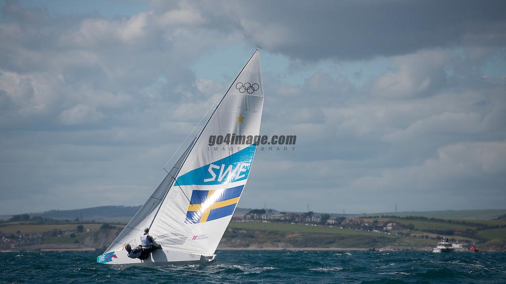 2012 Olympic Games London / Weymouth<br /> <br /> Star practice race<br /> StarSWELoof Fredrik, Salminen Max