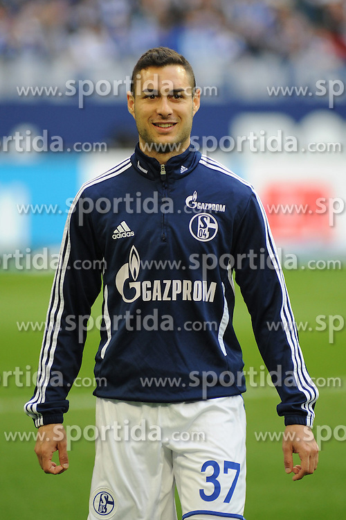 13.04.2013, Veltins Arena, Gelsenkirchen, GER, 1. FBL, Schalke 04 vs Bayer 04 Leverkusen, 29. Runde, im Bild Manuel Torres ( Schalke 04/ Portrait ) // during the German Bundesliga 29th round match between Schalke 04 and Bayer 04 Leverkusen at the Veltins Arena, Gelsenkirchen, Germany on 2013/04/13. EXPA Pictures © 2013, PhotoCredit: EXPA/ Eibner/ Thomas Thienel..***** ATTENTION - OUT OF GER *****