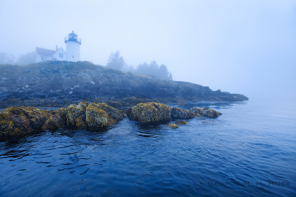 0902-1011 ~ Copyright:  George H.H. Huey ~ Lighthouse on Curtis Island, Penobscot Bay, Camden, Maine