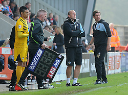 Daniel Leadbitter of Bristol Rovers returns from injury - Mandatory byline: Neil Brookman/JMP - 07966 386802 - 03/10/2015 - FOOTBALL - Globe Arena - Morecambe, England - Morecambe FC v Bristol Rovers - Sky Bet League Two