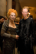 VIVIENNE WESTWOOD; TILDA SWINTON, Luomo Vogue 40th Anniversary dinner. Palazzo Litta. Milan. 22 June 2008 *** Local Caption *** -DO NOT ARCHIVE-© Copyright Photograph by Dafydd Jones. 248 Clapham Rd. London SW9 0PZ. Tel 0207 820 0771. www.dafjones.com.