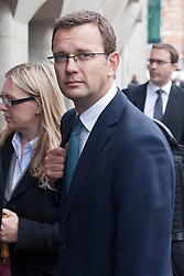 © under license to London News Pictures. 26/09/2012. London, UK. David Cameron's former spin doctor Andy Coulson arriving at the Old Bailey where he faces charges relating to phone hacking while he worked at News International. Photo Credit:ALEX CHRISTOFIDES/LNP.