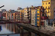 Pont de les Peixateries Velles , Girona, Catalonia, Spain