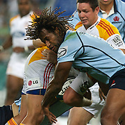 Lote Tuqiri in action during the Super14 match between the Waratahs and the Chiefs at the Sydney Football Stadium in Sydney, Australia on February 20, 2009. The Waratahs won the match 11-7. Photo Tim Clayton
