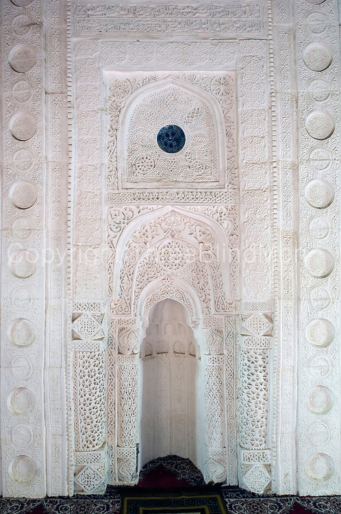 Mihrab in one of three mosques at Al Manah, an abandoned oasis settlement in central Oman.
