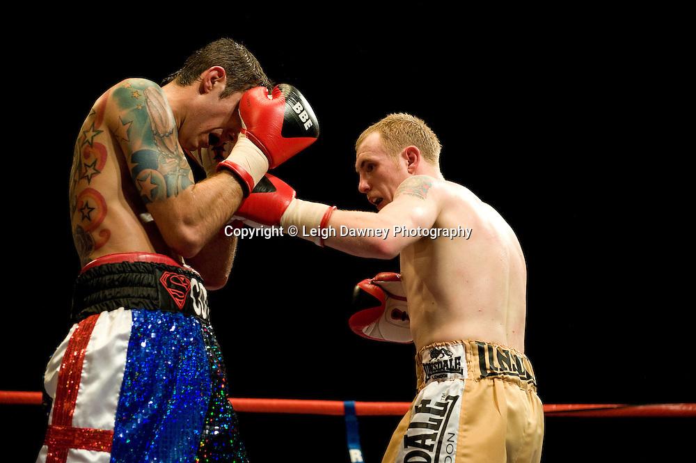 Scott Haywood draws against John Fewkes at the Harvey Hadden Leisure Centre 5th February 2010 Frank Maloney Promotions. Photo credit © Leigh Dawney