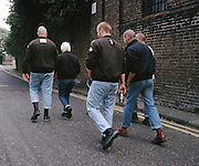 Skinhead Group, High Wycombe, UK, 1980s.