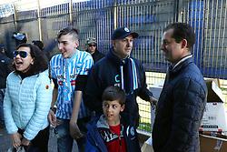 SIMONE COLOMBARINI E FAMIGLIA IN CURVA<br /> CALCIO SPAL - CESENA