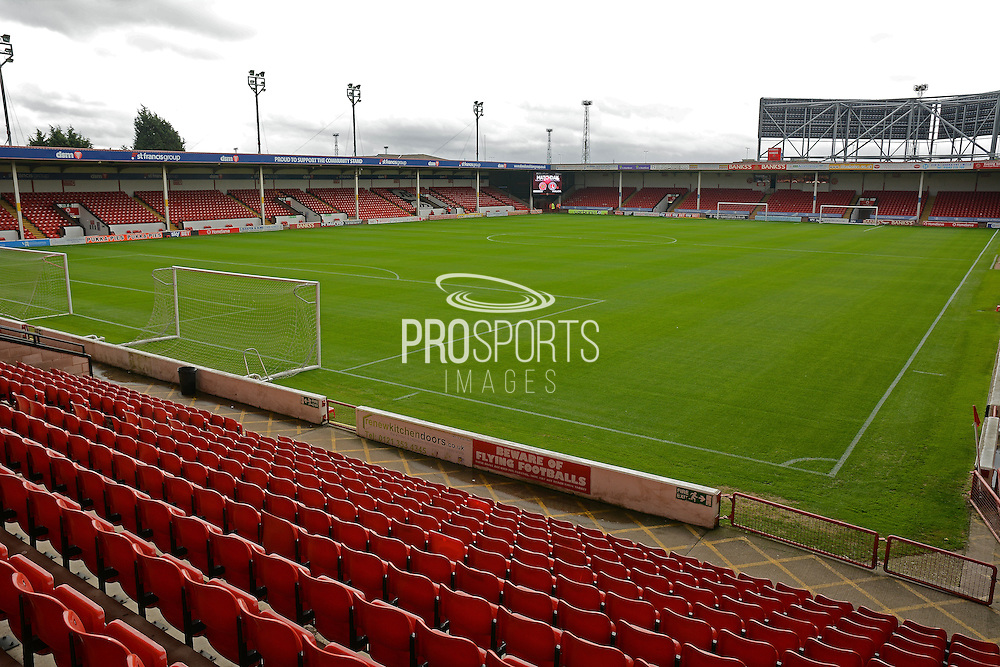 Pitch during the EFL Sky Bet League 1 match between Walsall and Charlton Athletic at the Banks's Stadium, Walsall, England on 20 August 2016. Photo by Alan Franklin.