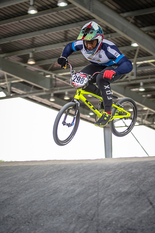 #298 (MADIDA Manqoba) RSA at Round 6 of the 2019 UCI BMX Supercross World Cup in Saint-Quentin-En-Yvelines, France