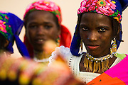 Fulani girls in village outside Aguie, Niger on Friday April 17, 2009.