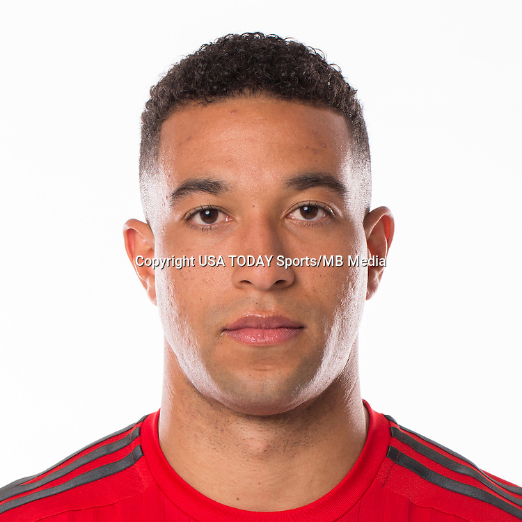 Feb 25, 2016; USA; Toronto FC player Justin Morrow poses for a photo. Mandatory Credit: USA TODAY Sports