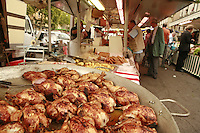 Lyon, France..the Saturday at the market at Plateau Croix Rousse in Lyon's 4th arrondissement..