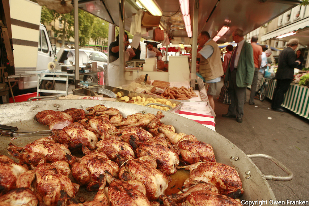 Lyon, France..the Saturday at the market at Plateau Croix Rousse in Lyon's 4th arrondissement..
