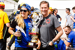 Lin Jarvis Yamaha boss with Yamaha rider Kiara Fontanesi of Italy during MXGP Trentino, round 5 for MXGP Championship in Pietramurata, Italy on 16th of April, 2017 in Italy. Photo by Grega Valancic / Sportida