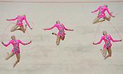 © Filippo Alfero<br /> Torino , 05/06/2008<br /> sport , ginnastica ritmica<br /> XXIV Campionati d'Europa di Ginnastica Ritmica Torino 2008<br /> Nella foto: la Russia - medaglia d'oro<br /> <br /> © Filippo Alfero<br /> Turin , Italy , 05/06/2008<br /> gymnastics<br /> 24th Rithmic Gymnastics European Championships - Torino 2008<br /> In the photo: the Russia - gold medal